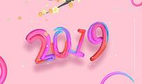 2019面若桃花新春海报