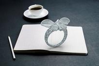 3D模型@蝴蝶镂空戒指