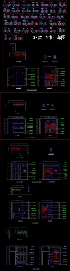 CAD家具衣柜设计整体衣柜图 dwg