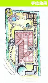 别墅顶平面图