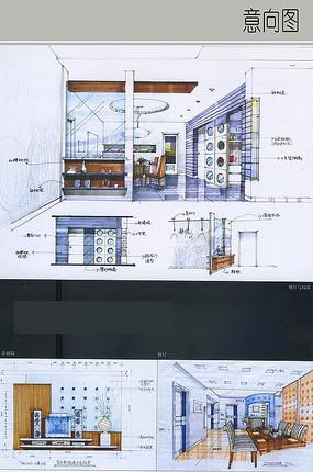 餐厅与影视墙空间设计