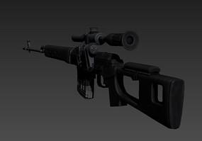 冲锋枪3D模型 max