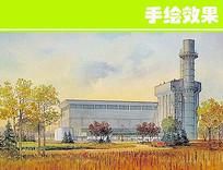 工业区手绘