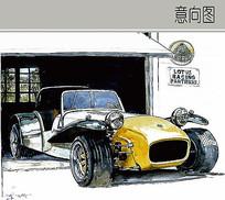 古典汽车手绘画法