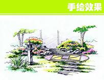 景观绿化手绘效果