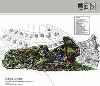 居住景观区平面图