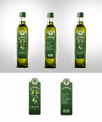 绿色简约橄榄油包装