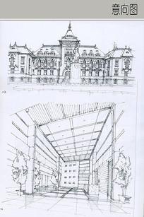 欧式建筑及室内手绘