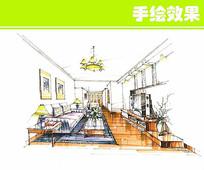 室内装修手绘图