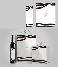 时尚简约红酒包装设计