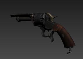 手枪3D模型 max