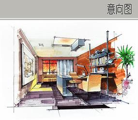 书房手绘设计