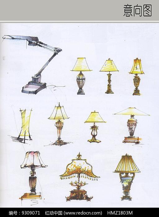 折叠台灯结构拆分图