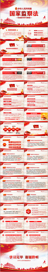学习解读中华人民共和国监察法PPT ppt