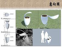 植物园垃圾桶设计
