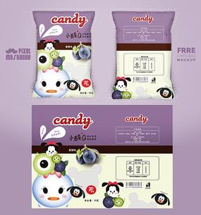 紫色清新零食包装