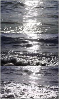 波光粼粼的海水实拍视频素材
