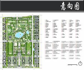 大明宫遗址公园规划总平面