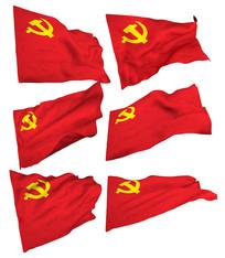 高清党旗素材