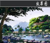 惠州某住宅景观桥方案二效果图