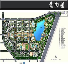 科技工业园区景观总图
