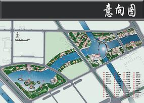 科技园中央商务区总平面图