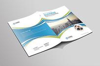 蓝色科技企业文化画册封面
