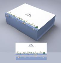 蓝色时尚礼盒包装