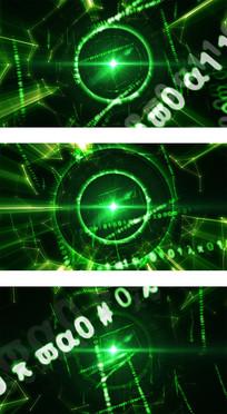绿色高科技感线条空间穿梭背景视频