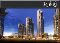 高层住宅透视图 JPG