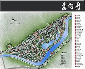 秦岭汉王城修建总平面图