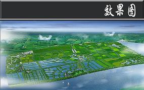 生态农业科技园鸟瞰图