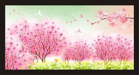 十里桃林春暖花开海报设计