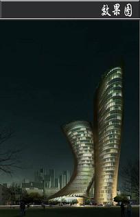 文化创意产业功能区大厦效果