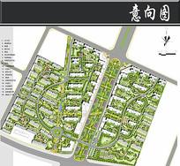 新东方世纪城景观总平面图
