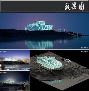 重庆六层大剧院建筑效果图