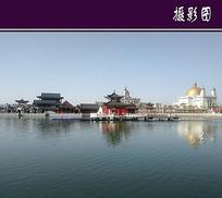 中西结合建筑水景
