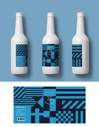 蓝色前卫啤酒包装 AI