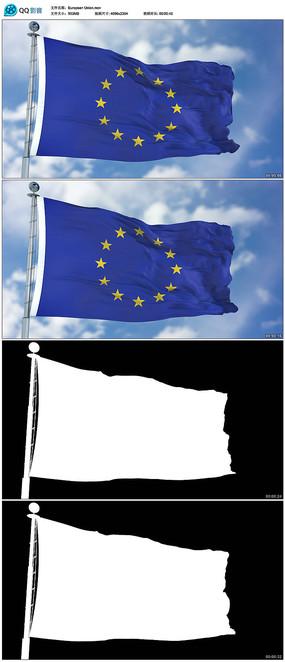 4k欧盟国旗视频