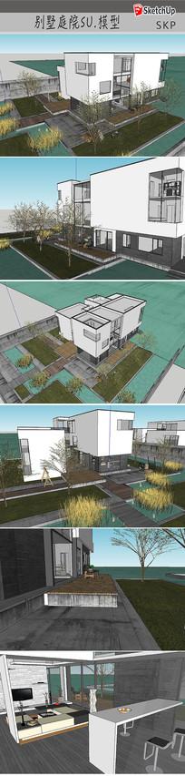 别墅住宅庭院建筑设计