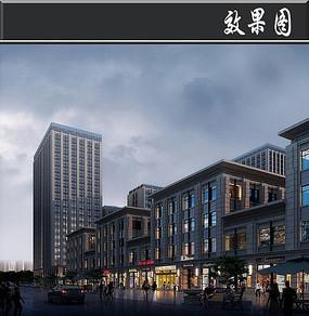 城市商业广场效果图PSD