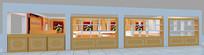 店铺展示柜立面效果图