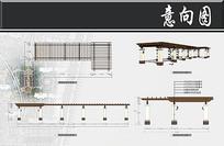 高层住宅景观长廊剖面图 JPG