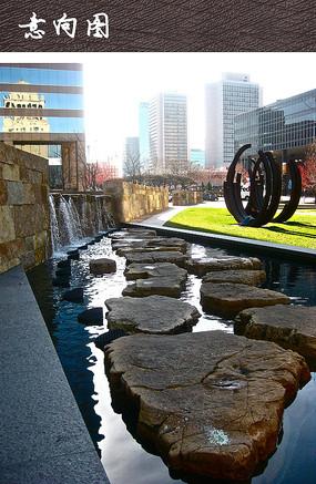 广场水景雕塑小品