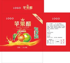 红色苹果醋纸箱包装设计 CDR