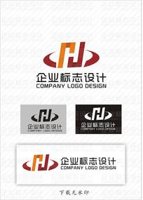 简约企业H标志设计 CDR