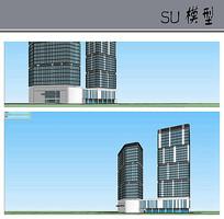 酒店高层建筑模型