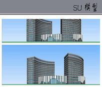 酒店建筑单体模型