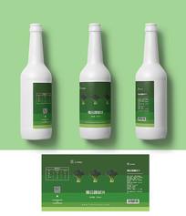 绿色蔬菜汁包装