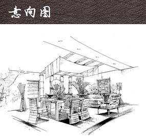 民宿室内手绘图